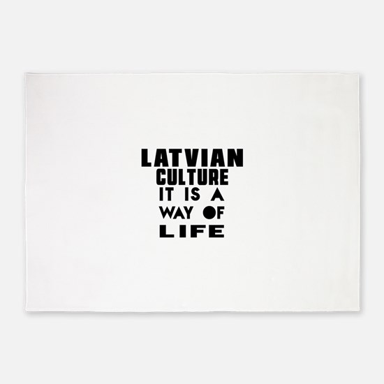 Latvian Culture It Is A Way Of Life 5'x7'Area Rug