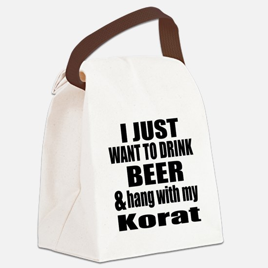 Hang With My Korat Canvas Lunch Bag