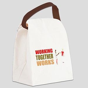 Motivational work Canvas Lunch Bag