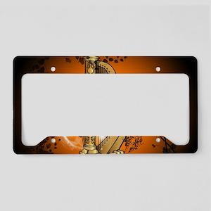 Golden harp License Plate Holder