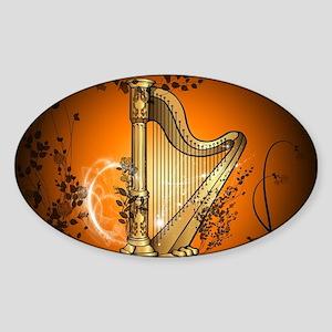 Golden harp Sticker
