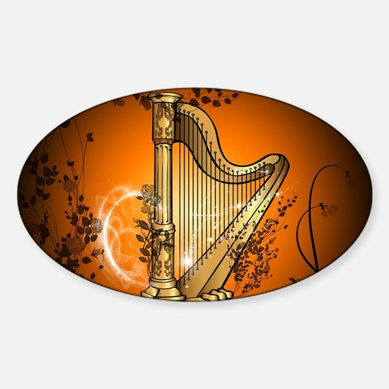 Golden harp Decal