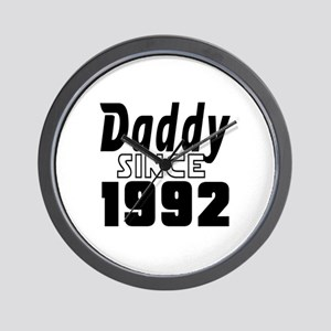 Daddy Since 1992 Wall Clock