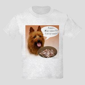 Aussie Terrier Turkey Kids Light T-Shirt