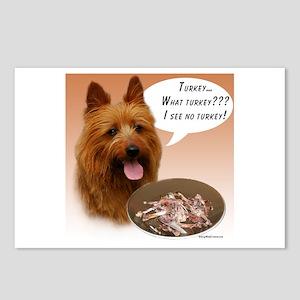 Aussie Terrier Turkey Postcards (Package of 8)