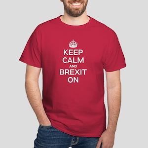 Keep Calm Brexit On Dark T-Shirt
