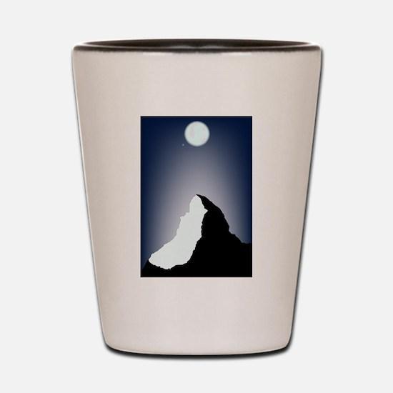 Matterhorn Night Shot Glass
