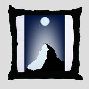 Matterhorn Night Throw Pillow