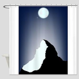 Matterhorn Night Shower Curtain