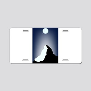 Matterhorn Night Aluminum License Plate