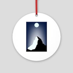 Matterhorn Night Round Ornament