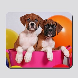 Boxer puppy Birthday Mousepad
