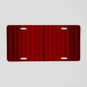 Curtain Call Aluminum License Plate
