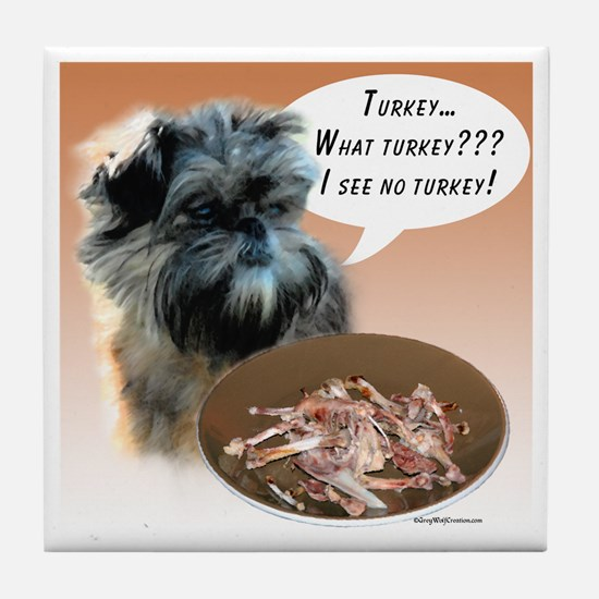 Affenpinscher Turkey Tile Coaster