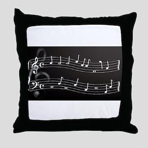 Metallic Cleff Throw Pillow