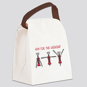 Gym for the Weekend Canvas Lunch Bag