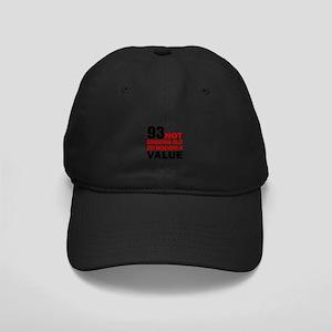 93 Not Growing Old Black Cap