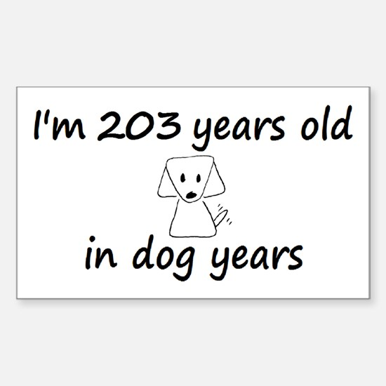 29 Dog Years 6-3 Decal