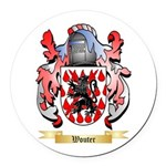 Wouter Round Car Magnet