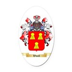 Woull Oval Car Magnet