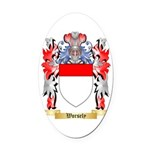 Worsely Oval Car Magnet