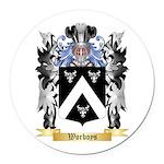 Worboys Round Car Magnet