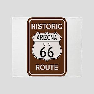 Arizona Historic Route 66 Throw Blanket