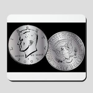 US Half Dollar Coin Mousepad
