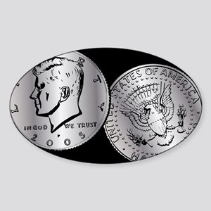 US Half Dollar Coin Sticker