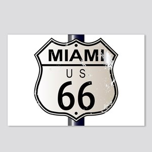 Miami Route 66 Sign Postcards (Package of 8)