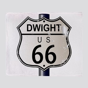 Dwight Route 66 Sign Throw Blanket