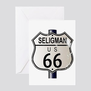 Seligman Route 66 Sign Greeting Cards