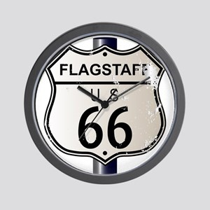 Flagstaff Route 66 Sign Wall Clock