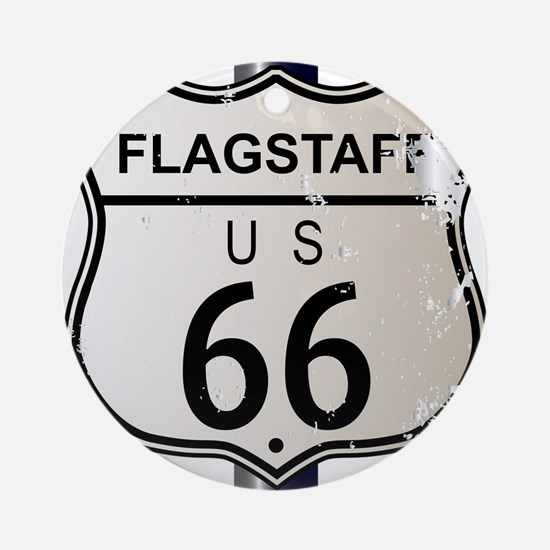 Flagstaff Route 66 Sign Round Ornament