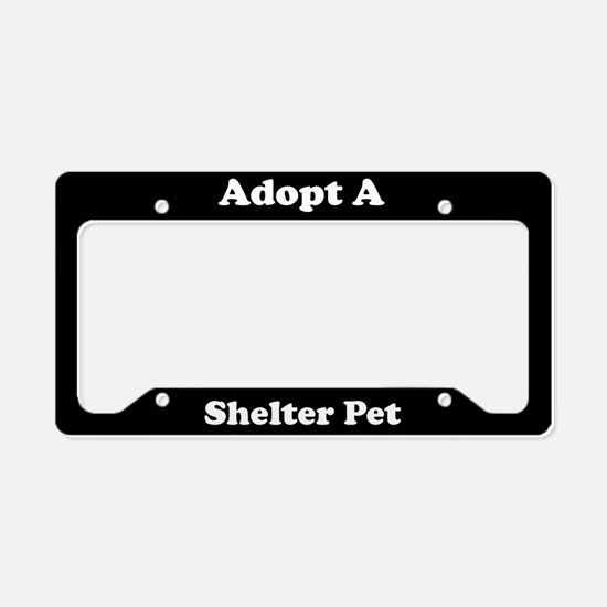 Adopt A Shelter Pet License Plate Holder