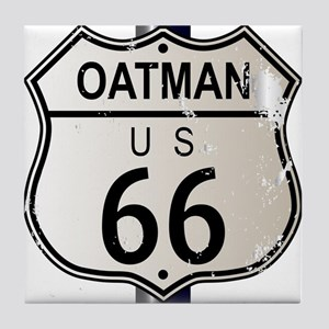 Oatman Route 66 Sign Tile Coaster