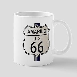 Amarillo Route 66 Sign Mugs