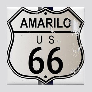 Amarillo Route 66 Sign Tile Coaster