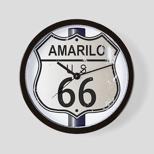 Amarillo Route 66 Sign Wall Clock