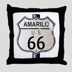 Amarillo Route 66 Sign Throw Pillow