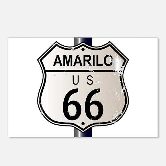 Amarillo Route 66 Sign Postcards (Package of 8)