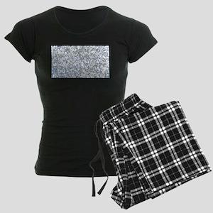 Dotted Background Women's Dark Pajamas