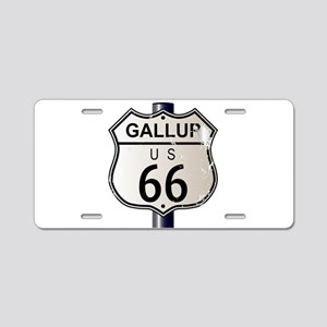 Gallup Route 66 Sign Aluminum License Plate