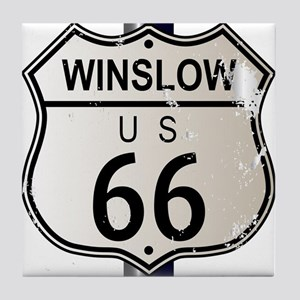 Winslow Route 66 Sign Tile Coaster
