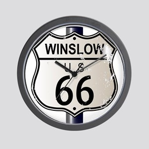 Winslow Route 66 Sign Wall Clock