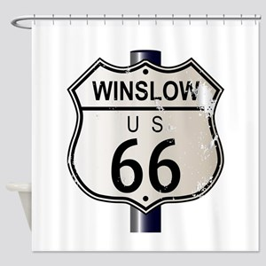 Winslow Route 66 Sign Shower Curtain