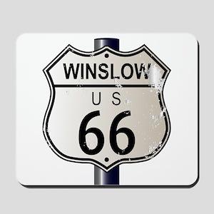 Winslow Route 66 Sign Mousepad