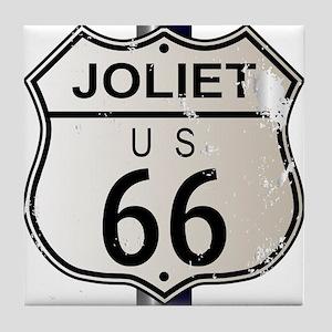 Joliet Route 66 Sign Tile Coaster