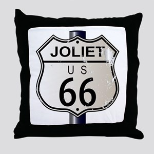 Joliet Route 66 Sign Throw Pillow