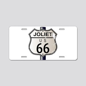 Joliet Route 66 Sign Aluminum License Plate